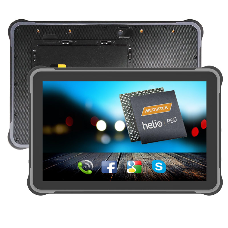 HiDON 10.1 inch Rugged Tablets Octa-core Android 9 4G RAM RJ45 RS232 Vehicle Mount RFID 2D Barcode Industrial Android Tablet PC