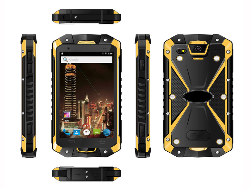 Highton 4.5 Inch Octa-core 4G Android5.1 3G RAM + 32G ROM PTT Waikie-Talkie Rugged Smart Phone,Rugged Smartphone HR453D