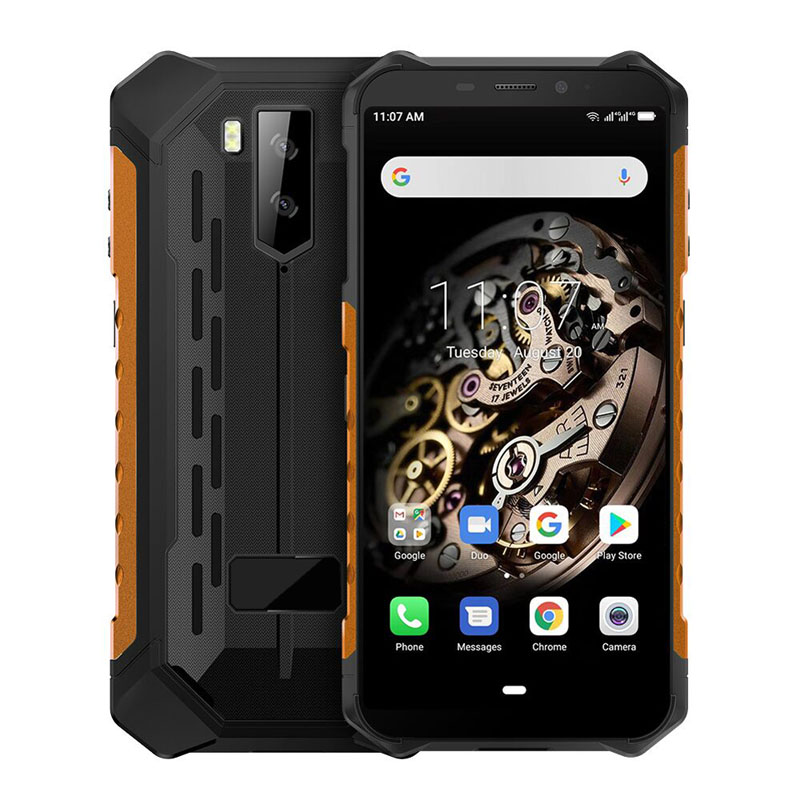 5.5 inch Octa-core Android 9.0 Smart Phone 3G RAM+32G ROM Mobile Phone with NFC IP68 IP69K Rugged Industrial Phone