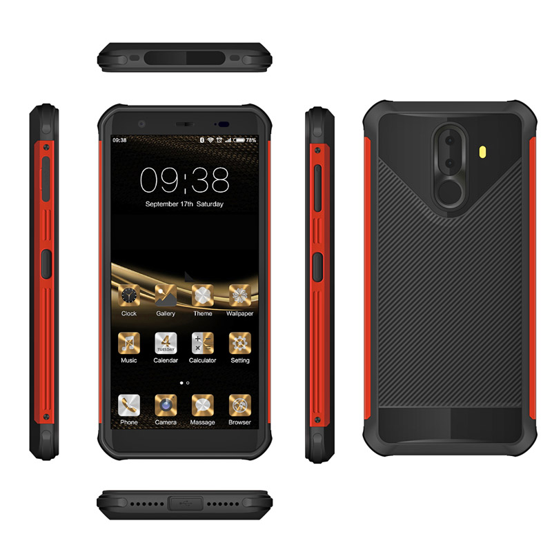 5.7 4GB ram + 64GB ROM 4800mAh Dual Camera NFC Octa-core 2.0GHz Fingerprint rugged phone waterproof phone rugged smartphone outdoor phone